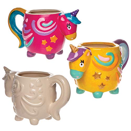 Baker Ross- Tazas de porcelana con unicornio (Pack de 2) - Actividad...