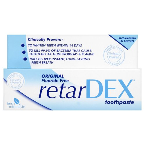 RetarDEX Original Fluoride-Free Toothpaste 75 ml (Pack of 2)