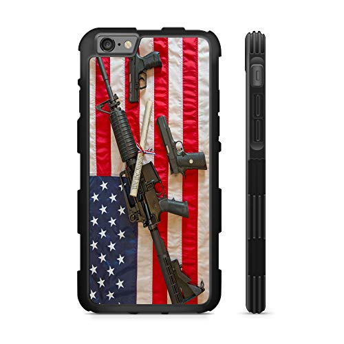 407Case Compatible with iPhone 6 iPhone 7 iPhone 8 iPhone SE 2020 US Flag Constitution Gun Rights 2nd Amendment Hyper Shock Protective Rubber TPU Phone Case (iPhone6/ 7/8/SE)