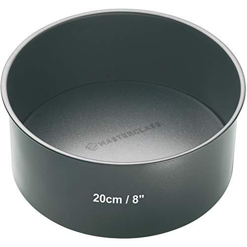 Master Class Tiefe runde Antihaft-Kuchenform mit losem Boden, Stahl, Grau 20 x 20 x 9.5 cm
