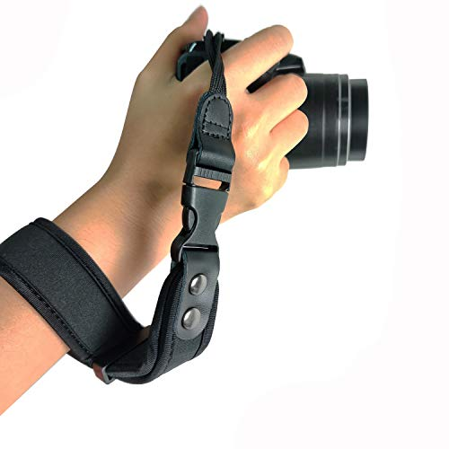 CHMETE Camera Wrist Strap Heavy Duty Wristband Adjustable Hand Strap for DSLR or Mirrorless Cameras