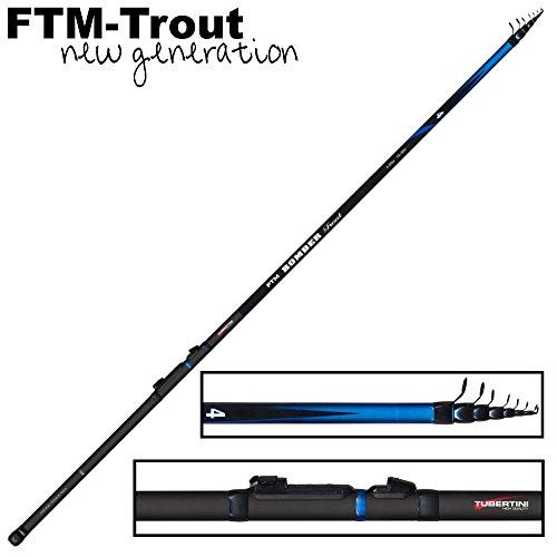 FTM Bomber Trout 4 Angelrute 4m 15-30g - Forellenrute zum Forellenangeln mit Sbirolino & Tremarella, Sbirolinorute, Forellenangel