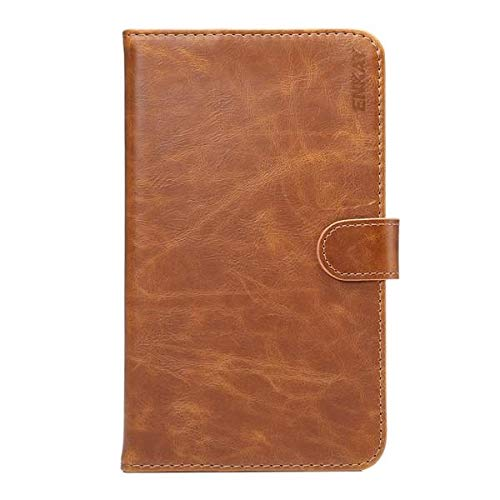 ZJYSM Tablet Cases PU Leather Wallet Case Cover with Card Holders Stand for Huawei M2 7 Inch Tablet (Color : Brown)