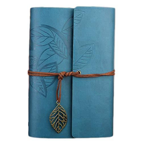 WFS Diarios Retro Traveler Journal Lined Notebook Oxford Travel DIY Bloc de Notas PU Cuero Espiral Cuaderno Grande azulejo Notebook (Color : C-L, tamaño : 1PCS)