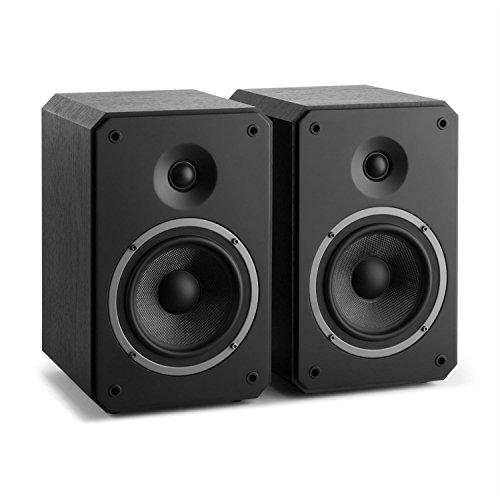 Numan Octavox 702 MKII Altavoces HiFi de Dos vías de estantería (100w Potencia máxima, Altavoz Medios y Graves, Tweeter WaveGuide, BassReflex, diseño Octogonal, Home Cinema) - Negro