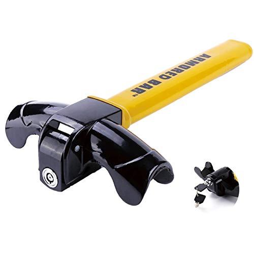 Barra Antirrobo Coche Universal Car Steering Wheel Lock Heavy Duty Authuft Car/Van Security Rotary Steering Wheel Lock Mejorar la seguridad del automóvil