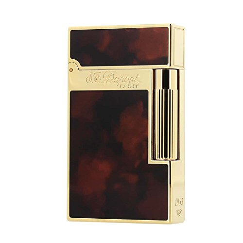Buy S.T. Dupont line 2 Lighter Double Flame Gold Dark Brown
