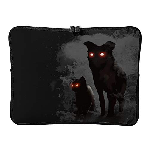 Regular Street Cat Laptop Bags Lightweight Classic Laptop Protector Suitable for Indoor White 10 Zoll