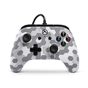 Controller cablato Licenza ufficiale di Microsoft e compatibile con Xbox One, Xbox One S, Xbox One X e Windows 10 - Arctic Frost Camo