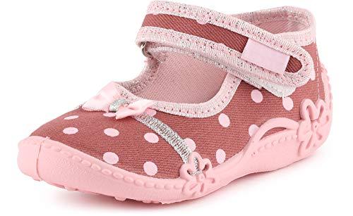 Ladeheid Zapatillas con Cierre Abrojo Calzado Niña LAVI0001 (Rosa Scuro/Dots, 25 EU)