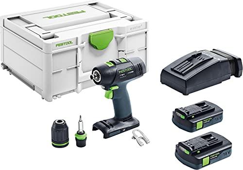 Festool Taladro atornillador a batería T 18+3 C 3,1-Plus