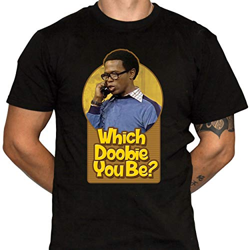 Which Doobie You Be T-Shirt - What's Happening TV Show Humor - 1970s Retro (Large) Black
