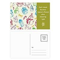 クリスマス雪だるまギフトフェスティバル 詩のポストカードセットサンクスカード郵送側20個