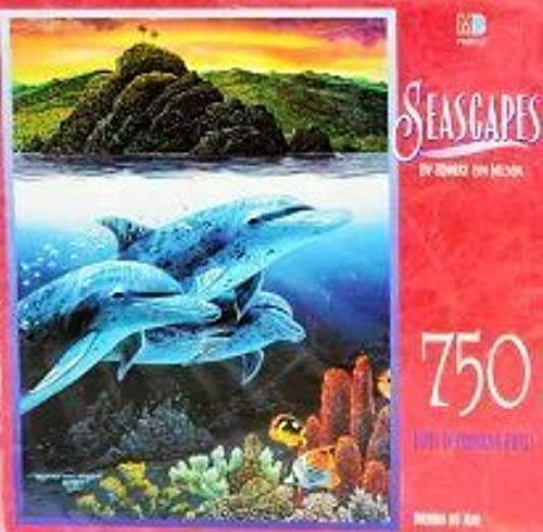 Dolphins Off Alau Puzzle by Seascapes