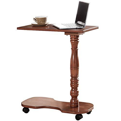 KXDLR Elegante Mobiele Sofa Zijtafel Einde Tafel Koffietafel op Wielen Woonkamer Hout Koffie Thee Snack Tafel Einde Tafel voor Slaapkamer Kleine Ruimte