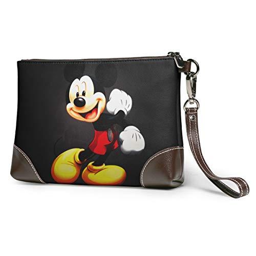 BLACKbiubiubiu Bolso de mano de piel suave de Mickey Mouse, bolsas clásicas pequeñas, grandes carteras, bolsas, neceser de cosméticos, jaulas de viaje, bolsas de cosméticos