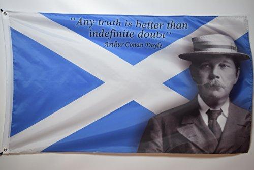 Arthur Conan Doyle Bandeira de dormitório de faculdade, decoração de garagem, promoção, Inglaterra, Inglaterra, 3x5
