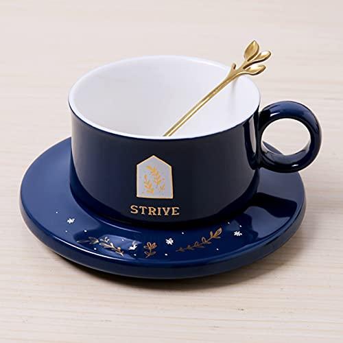 Nordic Lifetime Love - Taza de café de lujo con cuchara, diseño de taza de café