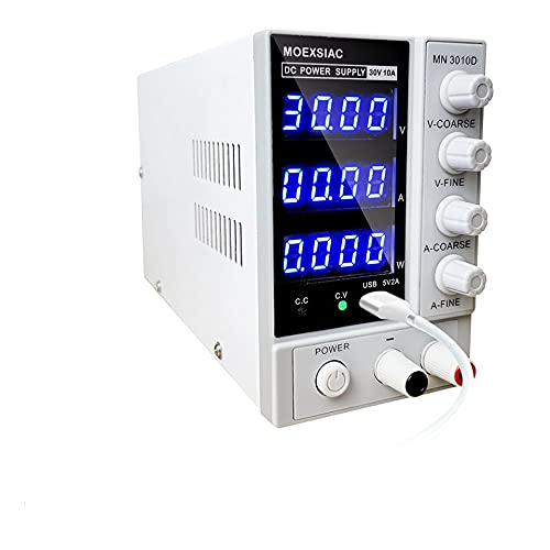 YGLONG Labornetzteil Mini DC-Netzteil einstellbar 30V 10A 4 digitaler USB-Laborbank-Quellspannungsregler-Schalter-Labor-Stromversorgung Industrielle Stromversorgung