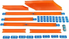 Great pack with tons of track, connectors and a Hot Wheels car for igniting customization, imagination and building skills! Great addition to existing Track Builder sets (sold separately). The Mega Track Pack includes connectors and 2 different le...