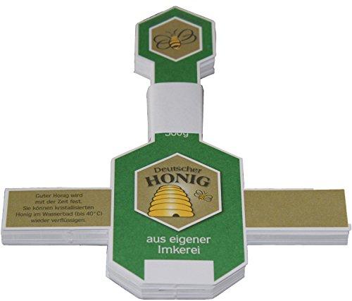Germerott Bienentechnik 3 x Neutrales Honig-Etikett für 500g Gläser VE 100 St. Preis Pro VE = 7,63 Euro