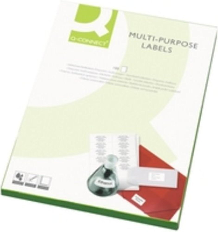 Q-Connect KF02251 Mehrzweck-Etiketten 99,1 x 67,7 mm 8 Etiketten pro A4 Bogen 500 Stück weiß B000NMARY4   Professionelles Design