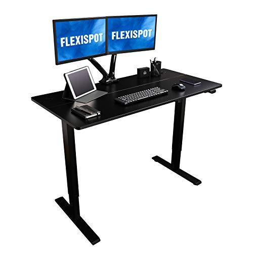 Flexispot EG1 Höhenverstellbarer Schreibtisch Elektrisch 2-Fach-Teleskop mit Tischplatte...
