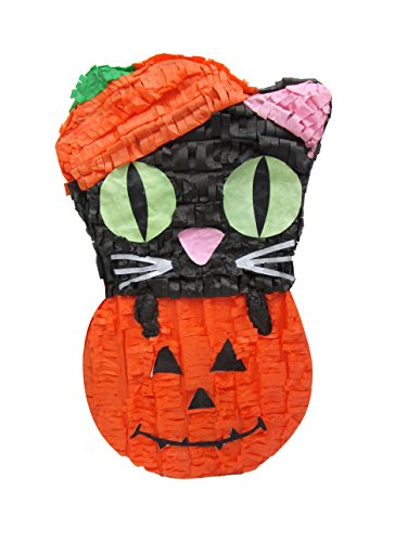 Pinatas Cat in Pumpkin Halloween Handmade Decoration and Party Game