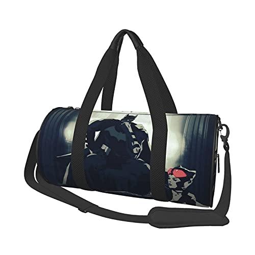 Catwoman - Bolsa de viaje redonda con estilo para gimnasio, bolsa de viaje para hombres y mujeres. Se puede utilizar para senderismo, vacaciones, negocios, deportes, viajes, playa, entrenamiento