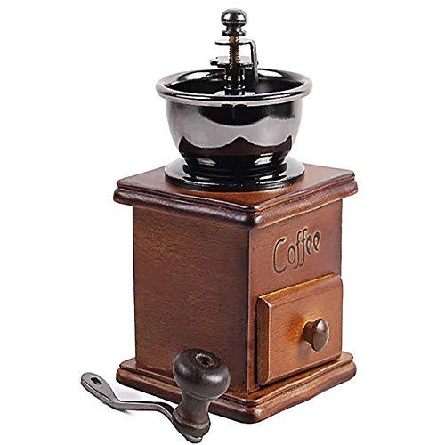 Retro Vintage Hand-Cranked Koffiezetapparaat, Houtmolen Basis Koffie Peper Kruidenmolen Met Lade, Woondecoraties (Een Set, Zie Hieronder)