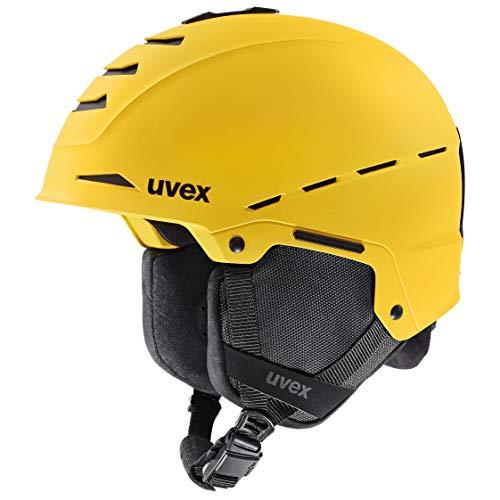 uvex Unisex– Erwachsene Legend pro Skihelm, yellow mat, 55-59 cm