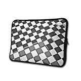 SWEET-YZ Laptop Sleeve Case Futuristic Checkerboard Notebook Computer Cover Bag Compatible 13-15 Inch Laptop