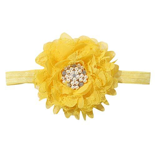 GLJYG Diadema para bebé, diseño de flores, color amarillo