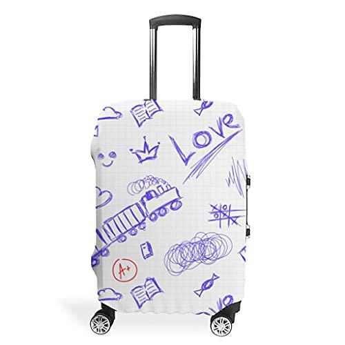 Liebe Zug - Funda protectora para maleta, diseño 3D