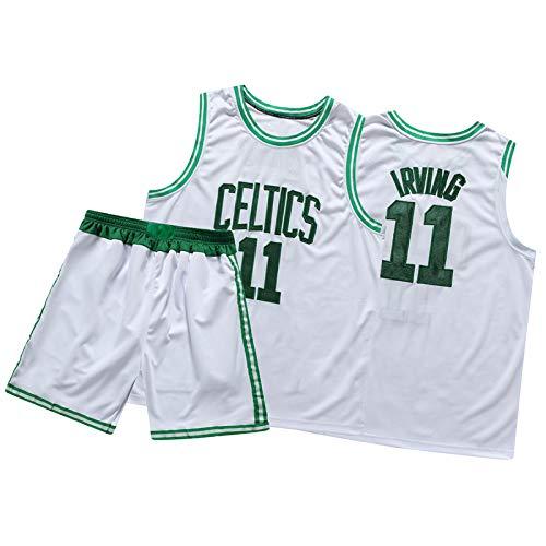 DSWF Irviñg 11# Cẽltic Men's Baloncesto Jersey, Fibra de poliéster Uniforme de Baloncesto Casual Cómodo Sportswear Traje S