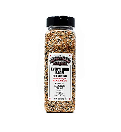 Everything Bagel Seasoning Premium Spice Blend With Pink Himalayan Salt Sesame Seeds Onion Garlic And Poppy Seed Bulk Shaker Gluten Free Keto And Paleo 12 Oz