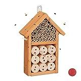 Relaxdays, Giallo Casetta Assemblare, Rifugio per Coccinelle, api Selvatiche e crisope, DIY, 26x16x6 cm