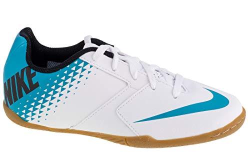 Nike Jr Bomba IC, Scarpe da Calcio Bambino, Multicolore (White/Blue Lagoon/Black 140), 38 EU