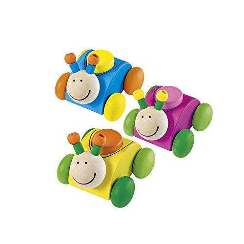 Selecta Spielzeug Rollina, Greifspielzeug, mit Quietsche, Greifling, Baby Spielzeug, Babyspielzeug, Holz, 61038