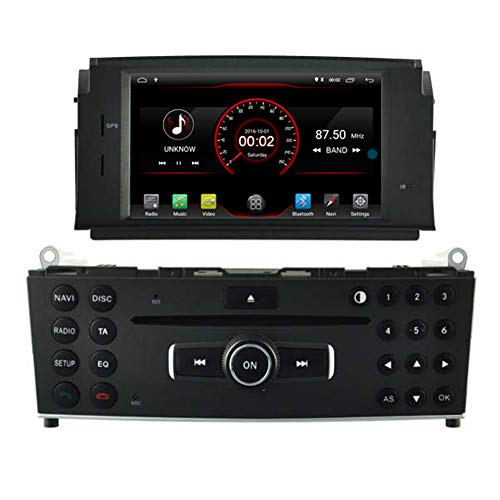 Autosion Android 10 Auto DVD Player GPS Stereo HeadUnit Navi Radio Multimedia WiFi für Mercedes Benz C-Klasse W204 2007 2008 2009 2010 2011 Mercedes Benz C-Klasse C180 C200 C220 Lenkradsteuerung