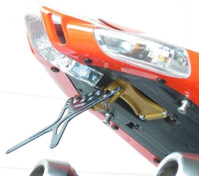 KENNZEICHENHALTER MELOTTI RACING fur APRILIA TUONO (2006-2010) / RSV 1000 - CNC machined, adjustable