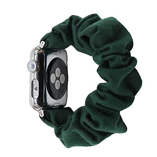Hspcam Coletero elástico de algodón compatible con Apple Watch Band 5 4 42 mm 38 mm para niñas y mujeres bandas de algodón 40 mm Series 5 4 3 2 1 44 mm 40 mm (38 mm o 40 mm, SWB 45)