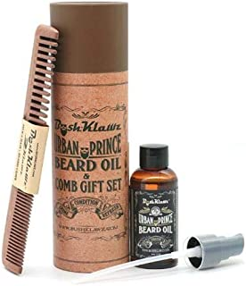 Travel Size Beard Oil 60ml & Wood Comb Care Grooming Kit Perfect Gift for Men Styling