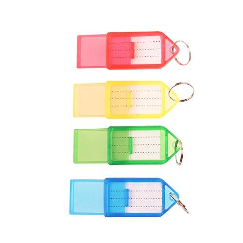Nuolux, etichette in plastica per bagagli, 60 pezzi, con portachiavi (colore casuale)