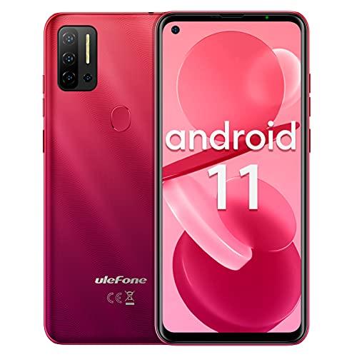 Ulefone Note 11P Android 11 Smartphone,Telefoni Cellulari In Offerta 4G, 6,55  Helio P60 Octa-Core, 8GB+128GB, 48MP+8MP+2MP Telecamera, 4400mAh, Slot per 3 schede, Impronta Digitale, Dual SIM (Rosso)