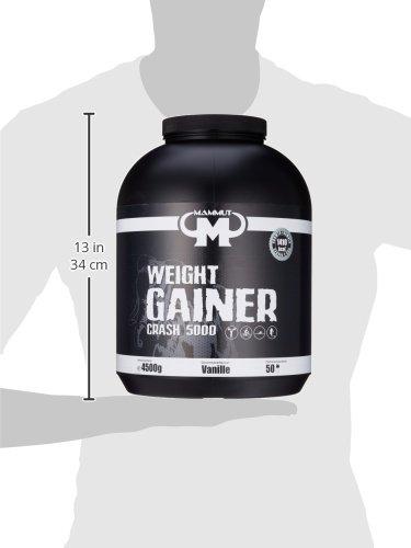 Mammut Weight Gainer Crash 5000, Kohlenhydrate Masseaufbau Kreatin, Vanille , 4.5 kg, 1er Pack - 4