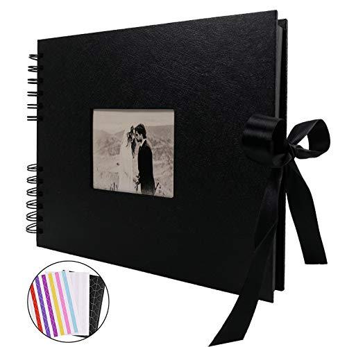 手作り アルバム DIY黒台紙40枚 スクラップブッキング 手作りフォトフレームブック お友達へのプレゼントや...