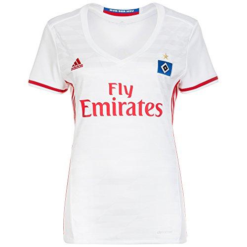 adidas Damen Hamburger SV Replica Trikot, White/Scarlet, XS