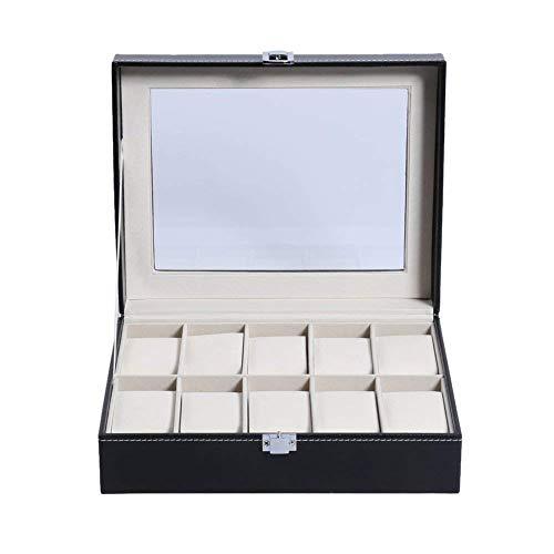 Horloge Box Case 2/6/10 PU Lederen Grills Professionele Houder Organizer Voor Horloges Sieraden Collectie Boxen Opbergdoos Pocket Display (Maat: 6 Grillen) 6grids