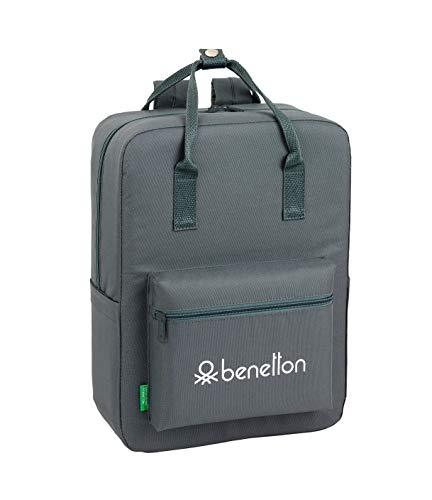 Benetton Mochila con Asas Gris